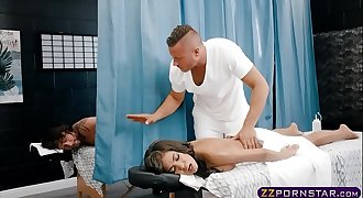 She gets a deep tissue massage into her wet snatch