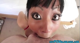 Pov spunk asian throated