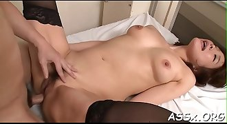 Racy sexy oriental threesome