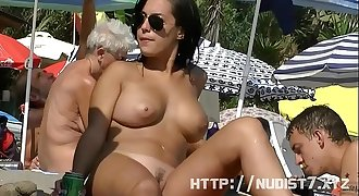 This nudist babes naked at the beach compilatio...