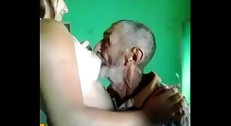 old man with daughter grand