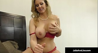 Julia Ann, World Famous Milf, Strokes &amp_ Sucks A Cock in Bed!