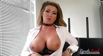 British Office Milf Lynda Leigh Blossom Strip Taunt To Show Pussy