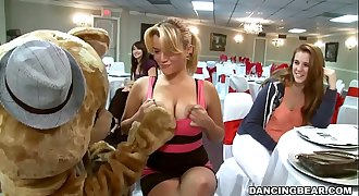 Big Dick Masculine Strippers and a Fluffy Dancing Bear Entertaining Women (db992