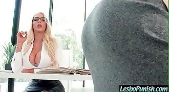 Gorgeous Girl (Nicolette Shea &amp_ Piper Perri) Get Penalized By Mean Lezbo mov-25