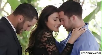 A perfect threeway hook-up act with hot brunette teen Adria Rae