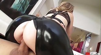 Mona Whales Ass Fucked in her Leather Chaps